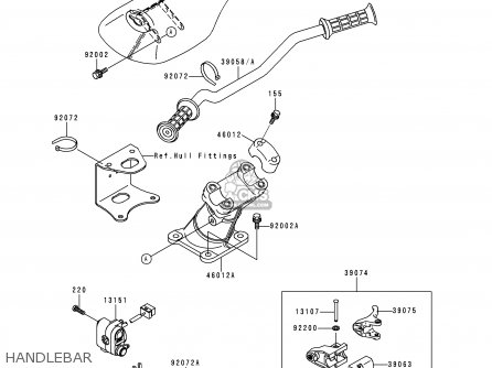 Kawasaki 1999 G2: Jh750 parts list partsmanual partsfiche