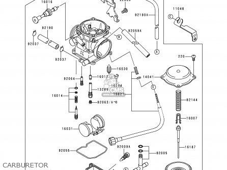Kawasaki 1999 J2: Klx250 parts list partsmanual partsfiche