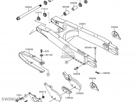 Kawasaki 1999 J2: Klx250 parts list partsmanual partsfiche