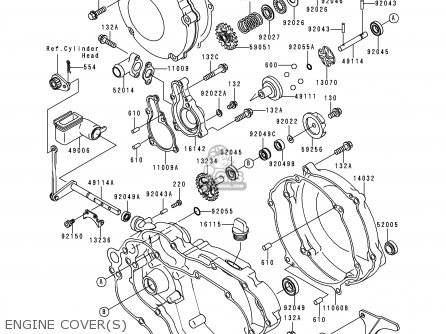 Kawasaki 1999 L1: Kx125 (north America) parts list