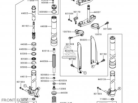 Kawasaki 1999 L1: Kx250 parts list partsmanual partsfiche