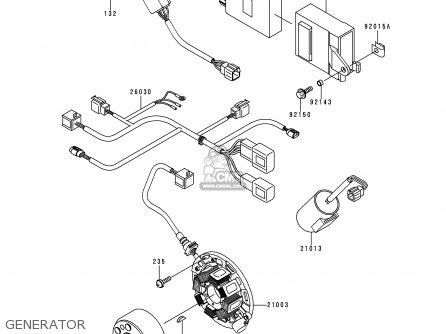 Kawasaki 1999 L1: Kx250 (north America) parts list