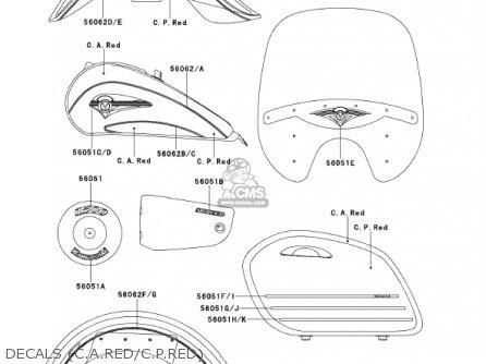 Kawasaki 1999 Vn1500-g1a Vulcan 1500 Nomad parts list