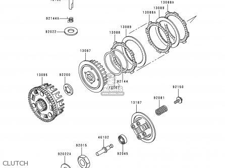 Kawasaki 2000 A3: Bn125 parts list partsmanual partsfiche