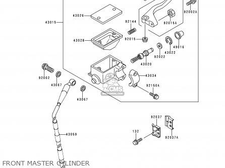 Kawasaki 2000 A7: Kdx220 (north America) parts list
