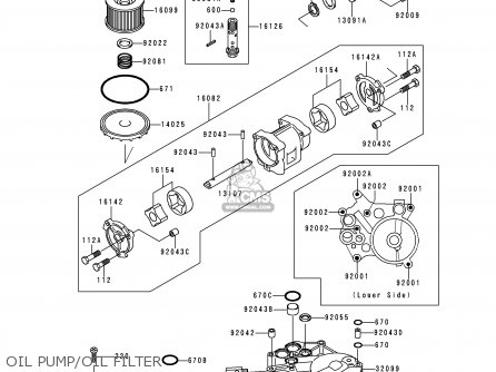 Kawasaki 2000 B14: Zg1200 (north America) parts list