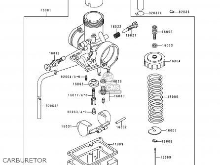Kawasaki 2000 B16: Kx60 parts list partsmanual partsfiche