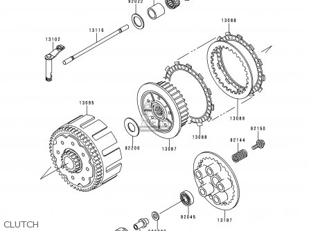 Kawasaki 2000 L2: Kx250 parts list partsmanual partsfiche