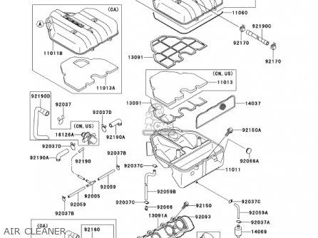 Kawasaki 2000 Zx600-e8 Ninja Zx-6 parts list partsmanual