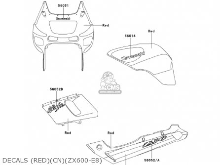 Kawasaki 2000 Zx600-e8 Ninja Zx-6 parts list partsmanual