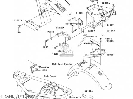 Kawasaki 2001 Ej650-a3 W650 parts list partsmanual partsfiche
