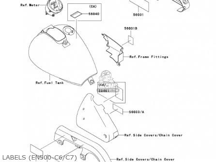 Kawasaki 2001 En500-c6 Vulcan 500 Ltd parts list