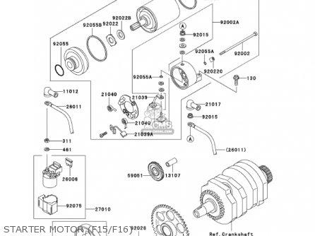 Kawasaki 2001 Ex250-f15 Ninja 250r parts list partsmanual