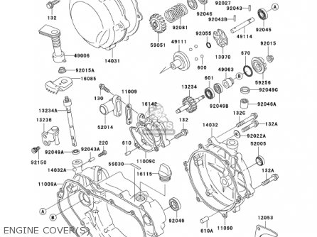 Kawasaki 2001 Kdx200-h7 Kdx200 parts list partsmanual