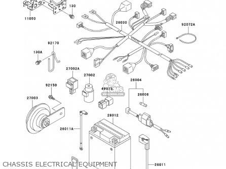 Kawasaki 2001 Kl250-g5 Super Sherpa parts list partsmanual