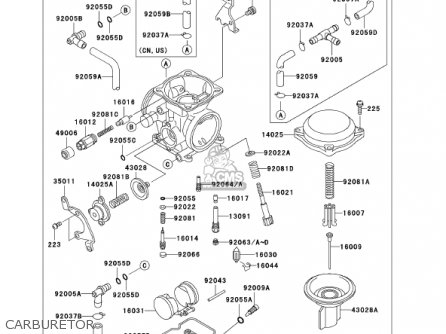 Kawasaki 2001 Kl650-a15 Klr650 parts list partsmanual