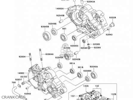 Kawasaki 2001 Kmx125-a14 Kmx 125 parts list partsmanual