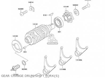 Kawasaki 2001 Kmx125-a14 Kmx 125 parts list partsmanual