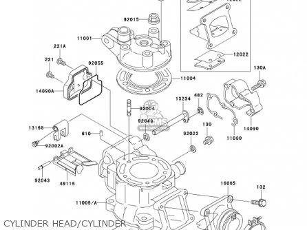 Kawasaki 2001 Kx100-d1 Kx100 parts list partsmanual partsfiche