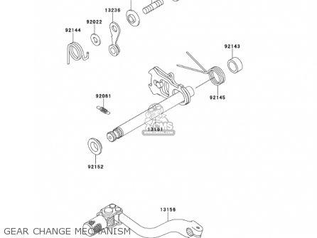Kawasaki 2001 Kx125-l3 Kx125 parts list partsmanual partsfiche