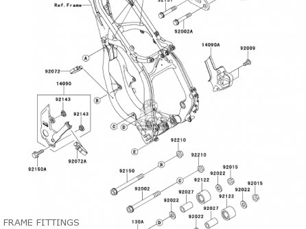 Kawasaki 2001 Kx250-l3 Kx250 parts list partsmanual partsfiche