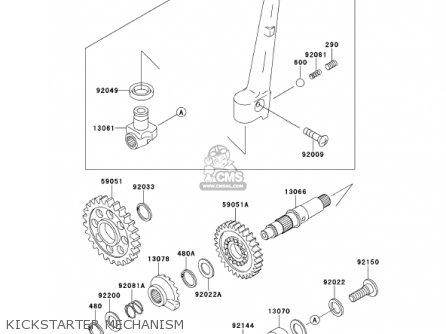 Kawasaki 2001 Kx250-l3 Kx250 parts list partsmanual partsfiche