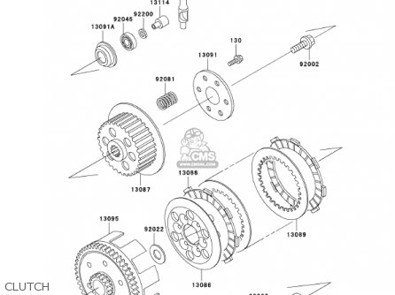 Kawasaki 2001 Kx65-a2 Kx65 parts list partsmanual partsfiche