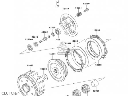 Kawasaki 2001 Kx85-a1 Kx85 parts list partsmanual partsfiche