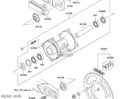 Kawasaki 2001 Kx85-a1 Kx85 parts list partsmanual partsfiche