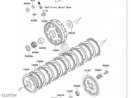 Kawasaki 2001 Vn750-a17 Vulcan 750 parts list partsmanual