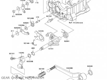 Kawasaki 2001 Zr1200-a1 Zrx1200r parts list partsmanual