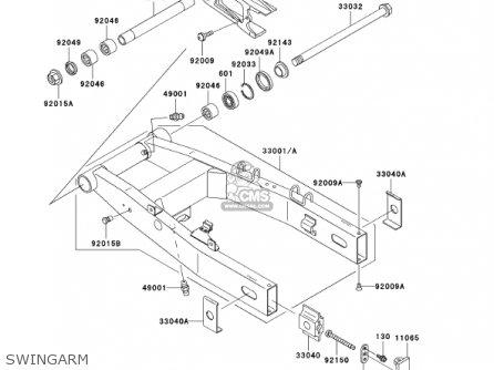 Kawasaki 2001 Zr750-h1 Zr-7s parts list partsmanual partsfiche