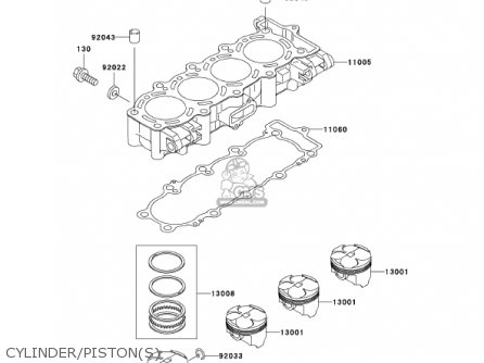Kawasaki 2001 Zx600-j2 Ninja Zx-6r parts list partsmanual