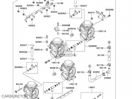 Kawasaki 2001 Zx750-p6 Ninja Zx-7r parts list partsmanual