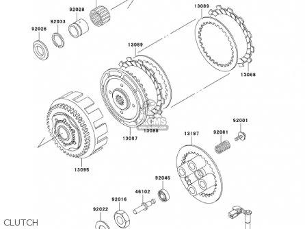 Kawasaki 2002 Ex250-f16 Ninja 250r parts list partsmanual