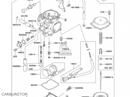 Kawasaki 2002 Klx300-a7 Klx300r parts list partsmanual