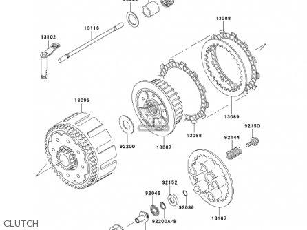 Kawasaki 2002 Kx250-l4 Kx250 parts list partsmanual partsfiche