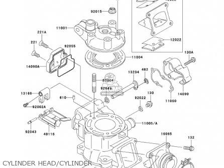 Kawasaki 2002 Kx85-a2 Kx85 parts list partsmanual partsfiche