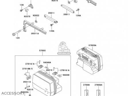 Kawasaki 2002 Zg1000-a17 Concours parts list partsmanual