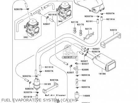 Kawasaki 2002 Zr750-h2 Zr-7s parts list partsmanual partsfiche