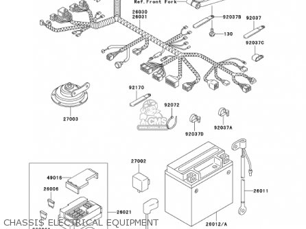 Kawasaki 2002 Zx600-e10 Ninja Zx-6 parts list partsmanual