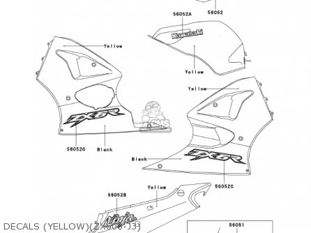 Kawasaki 2002 Zx600-j3 Ninja Zx-6r parts list partsmanual