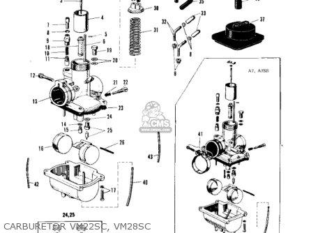 Kawasaki A1 1969 parts list partsmanual partsfiche