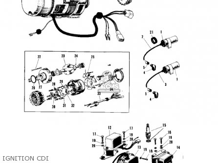 Kawasaki A1 1969 parts list partsmanual partsfiche