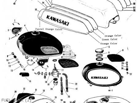 Kawasaki A1 SAMURAI 1969 EUROPE USA parts lists and schematics