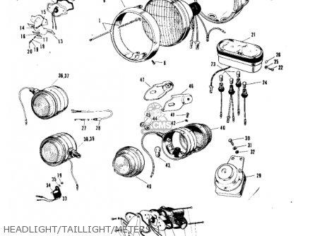 Kawasaki A7 AVENGER 1967 USA parts lists and schematics