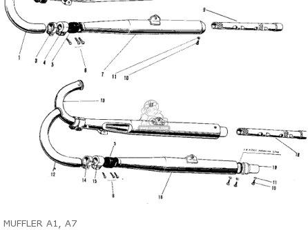 Kawasaki A7A AVENGER 1970 USA parts lists and schematics