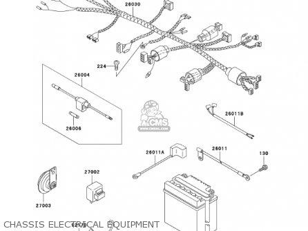 Kawasaki An110c7 Kazer 2002 Canada parts list partsmanual