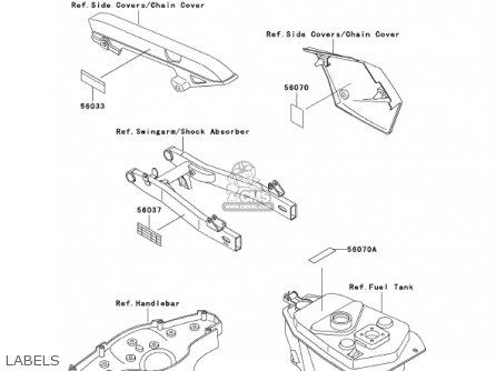 Kawasaki AN110C7 KAZER 2002 CANADA parts lists and schematics