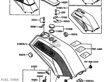 Kawasaki AR125A3 1985 UNITED KINGDOM FR GR ST SD parts